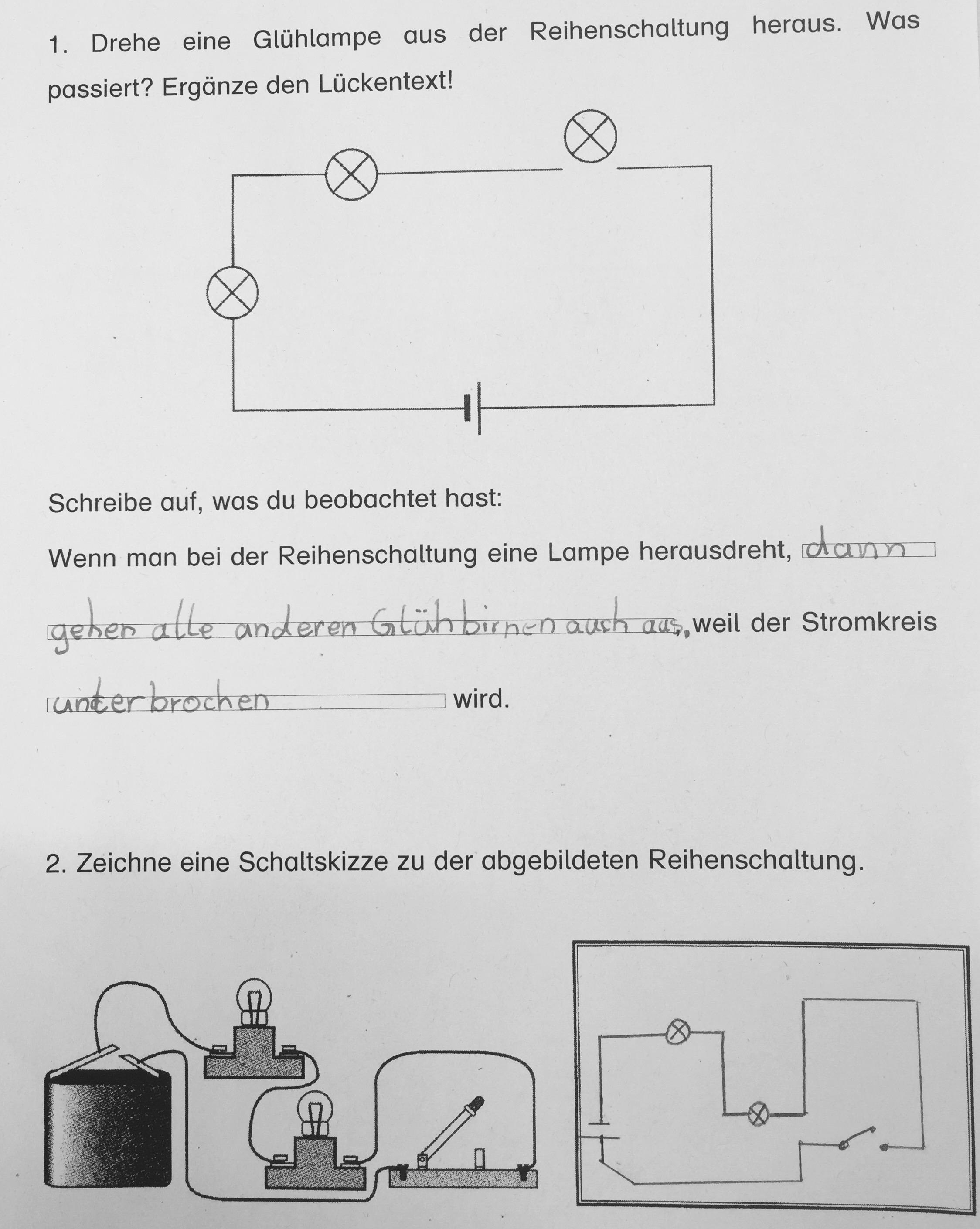 reihenschaltung parallelschaltung grundschule lichtschalter beschriftung. Black Bedroom Furniture Sets. Home Design Ideas