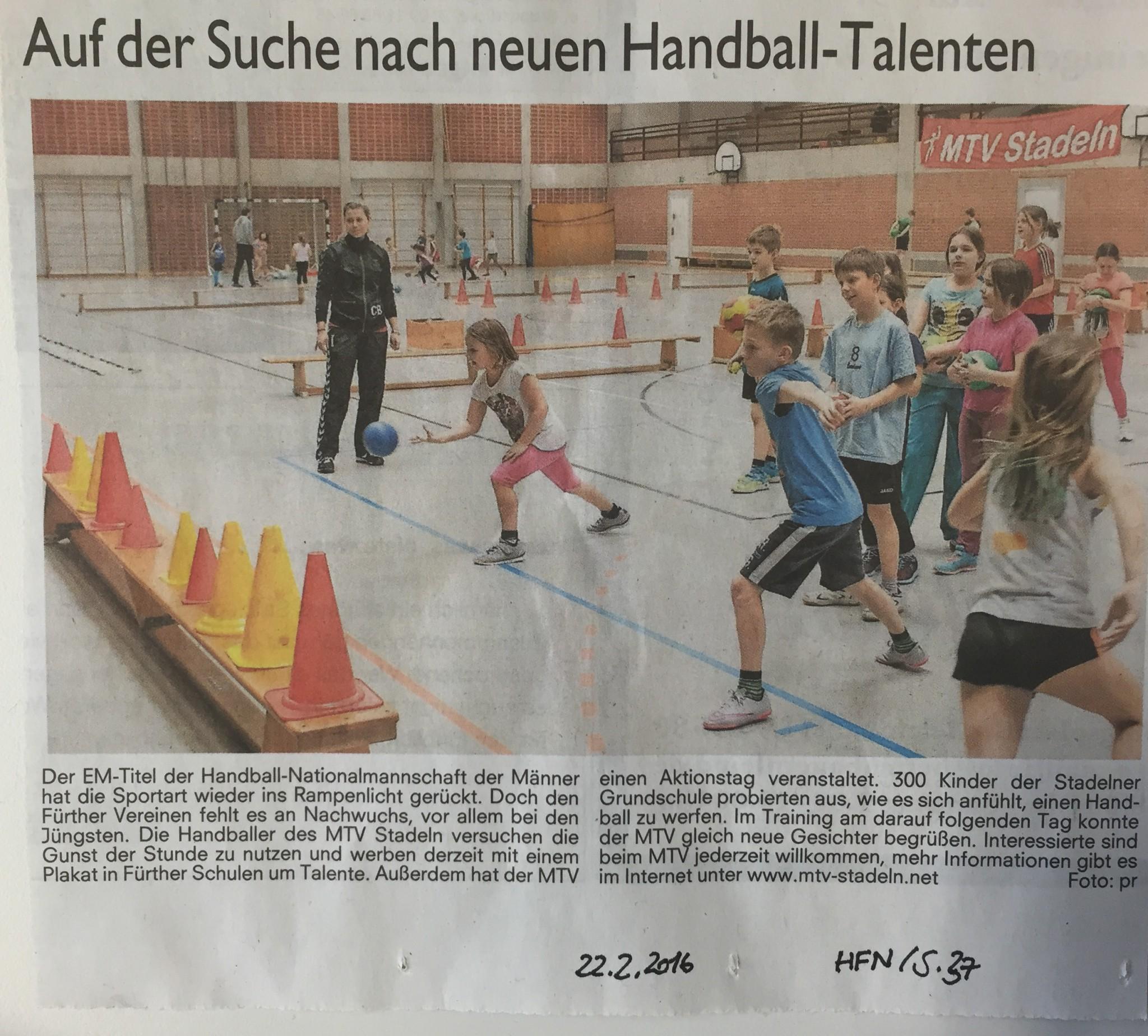zeitung handball